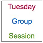 Tuesday group session